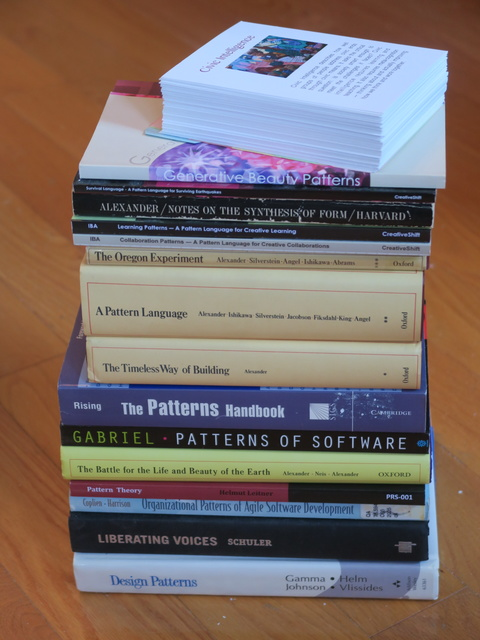 Selecting from bookshelf for #WickedProblems #SystemsApproach #PatternLanguage
